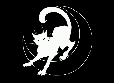 The Black Cat logo featured image inverted