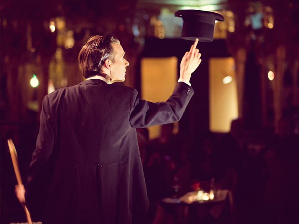 Florian Brooks - Juggler at the Black Cat Cabaret: Salon des Artistes at Hotel Cafe Royal