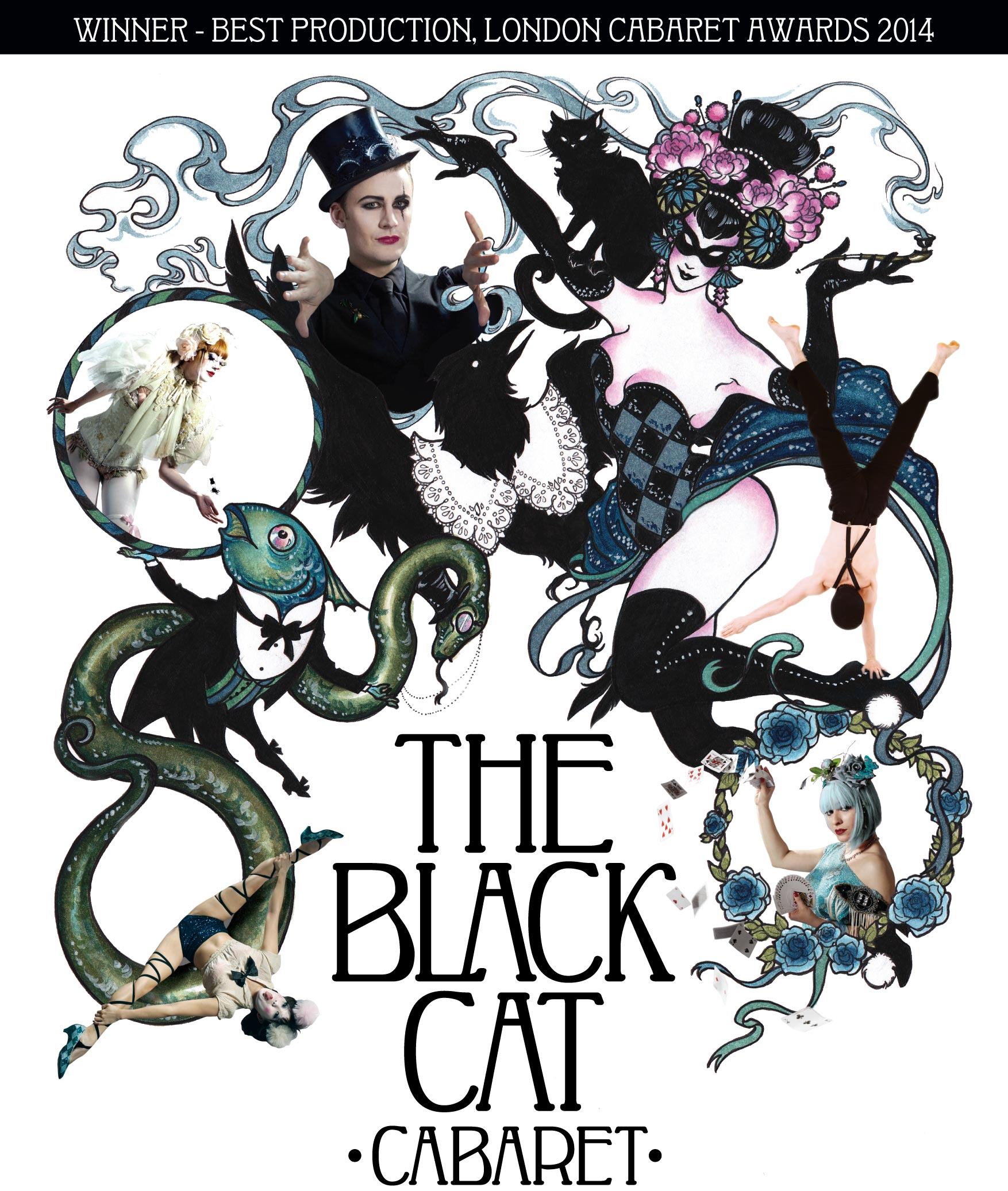 The Black Cat Cabaret, new at Cafe Royal Hotel - poster 2013